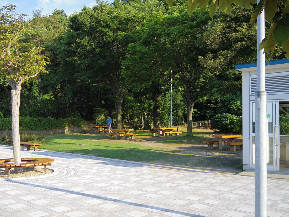 名立谷浜サービスエリアの休憩スポット