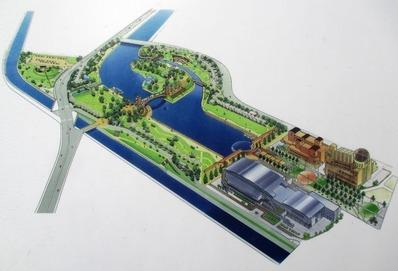 富岩運河環水公園の全体マップ