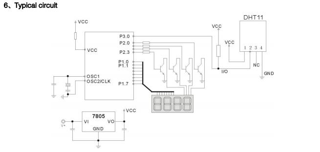 DHT11典型的な配線