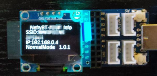 Nefry-BTのWi-Fi設定完了