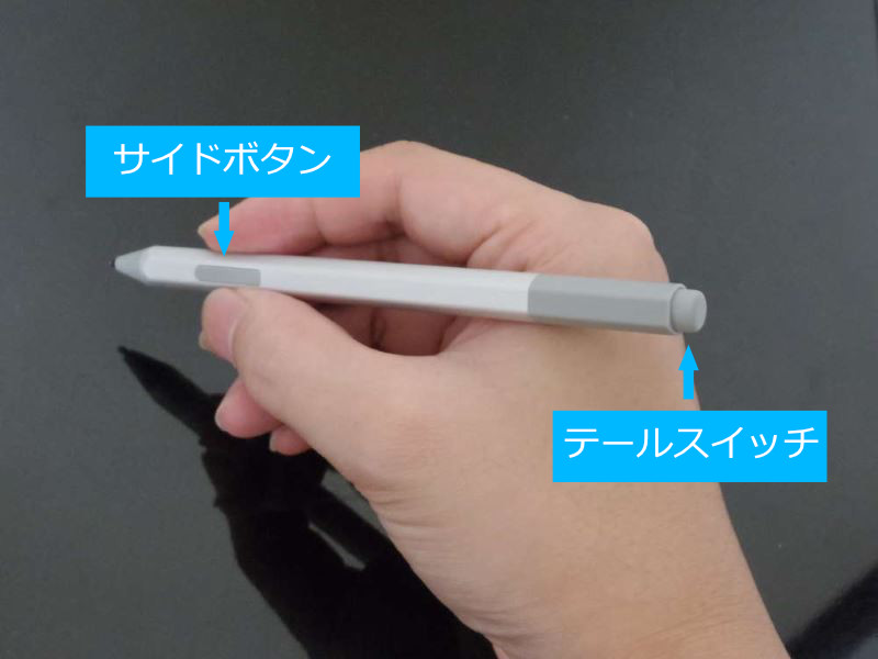 Surface Penのボタン配置