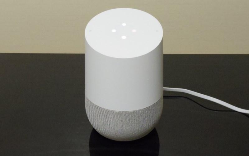 Google Homeに電源を入れたところ