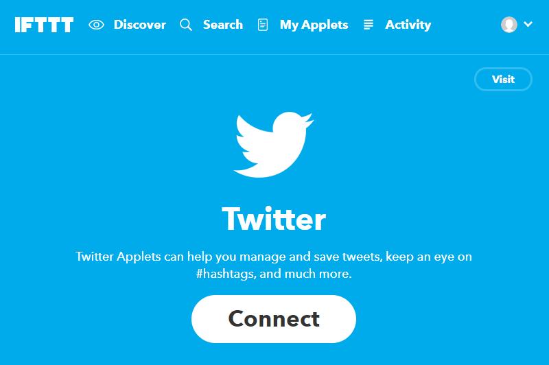 IFTTTとTwitterのサービスを接続する