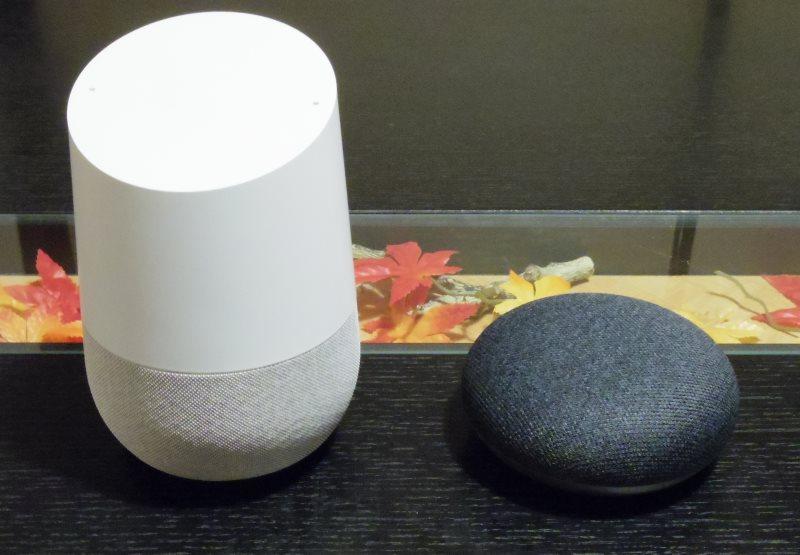 Google Home miniとGoogle Homeの大きさの違い