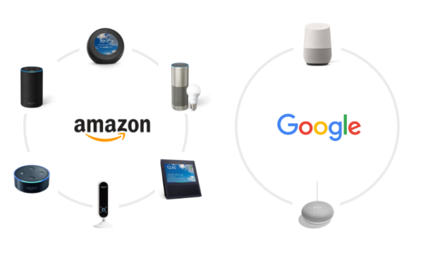 Google HomeとAmazon Echoの違い
