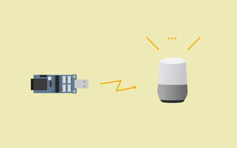 NefryのボタンからGoogle Homeに話させる