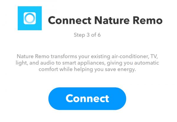 Nature Remoのサービスと接続する