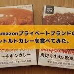 Amazonプライべーどブランドのレトルトカレーをたべてみた