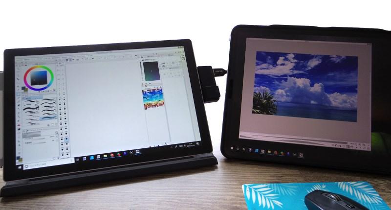 iPadをサブディスプレイとして利用した例