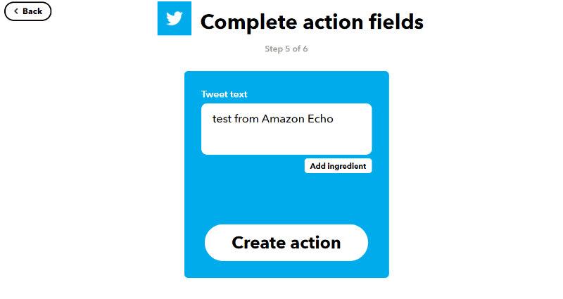 Amazon Echoからtweetする内容を設定する