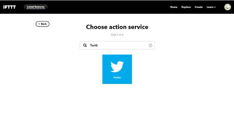 Twitterのサービスを追加する